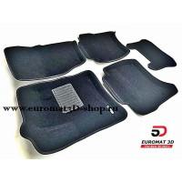 Текстильные 3D коврики Euromat3D Business в салон для VOLKSWAGEN Touareg (2010-) № EMC3D-004101