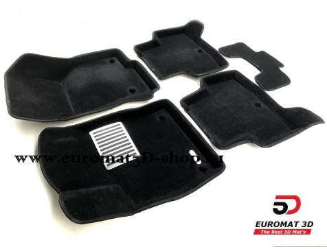 Текстильные 3D коврики Euromat в салон для AUDI A3 (2014-) № EM3D-004507