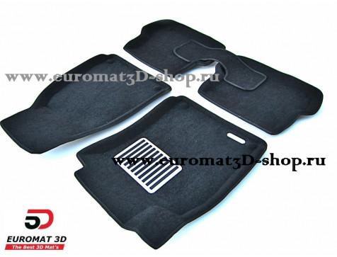 Текстильные 3D коврики Euromat в салон для AUDI A4 (2004-2007) № EM3D-001110
