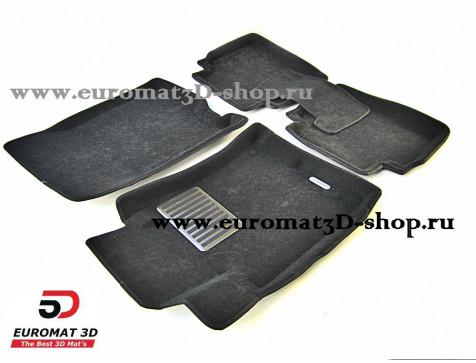 Текстильные 3D коврики Euromat в салон для ACURA ZDX (2009-2013) № EM3D-002613